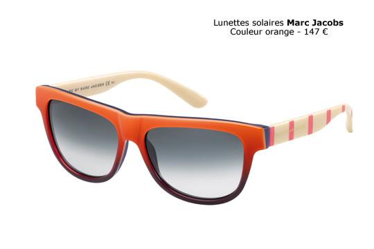 Les montures oranges Marc Jacobs