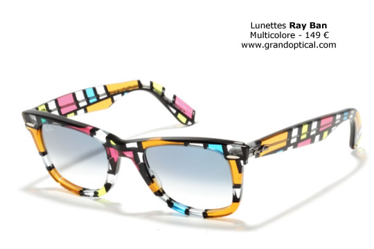 Les montures multicolores Ray Ban