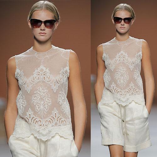 Tendance clé de la mode printemps-été 2013 : dentelle