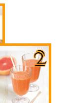 Jus de pamplemousse de Floride, carottes et gingembre frais