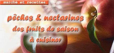 Pêches et nectarines, des fruits de saison à cuisiner