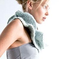 Col en tricot festonné - Explications gratuites