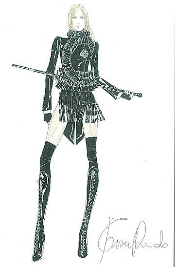 Madonna en gangster maquerelle par Riccardo Tisci pour Givenchy Haute Couture