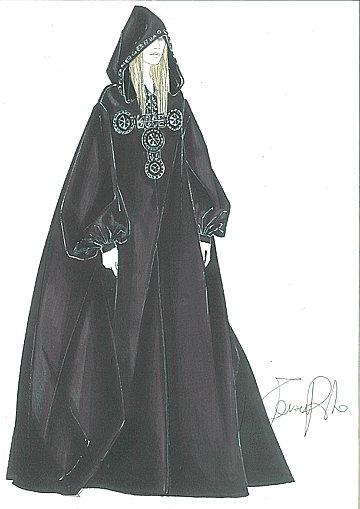 Madonna en cape de taffetas de soie par Riccardo Tisci pour Givenchy Haute Couture