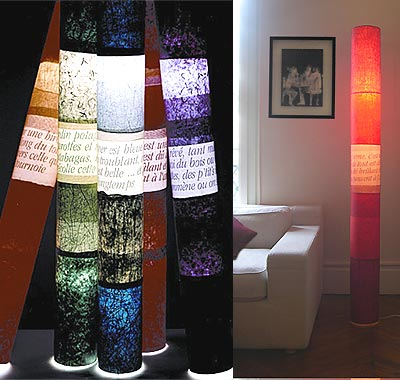 lampes 'des mots et des couleurs' - anne-marie zahar