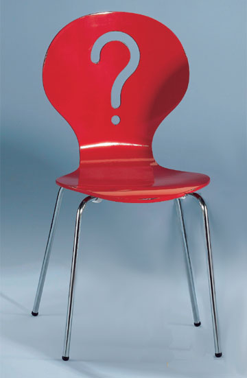 chaise '?' - 3 suisses