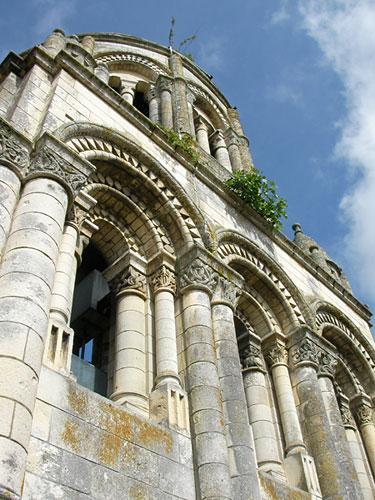 La ville de Saintes vue du clocher de l'Abbaye aux Dames (D.R.)