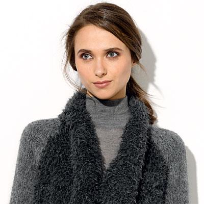 Modèle expliqué gratuit : veste bimatière à tricoter.