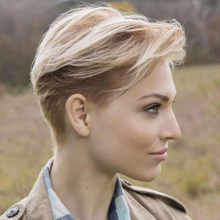 Coiffure cheveux courts - SAINT ALGUE - Tendances automne-hiver 2016-2017.