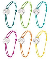 """Bracelet """"Cœur entrelacé"""" Poiray en argent dont les bénéfices de la vente seront versés au Téléthon."""