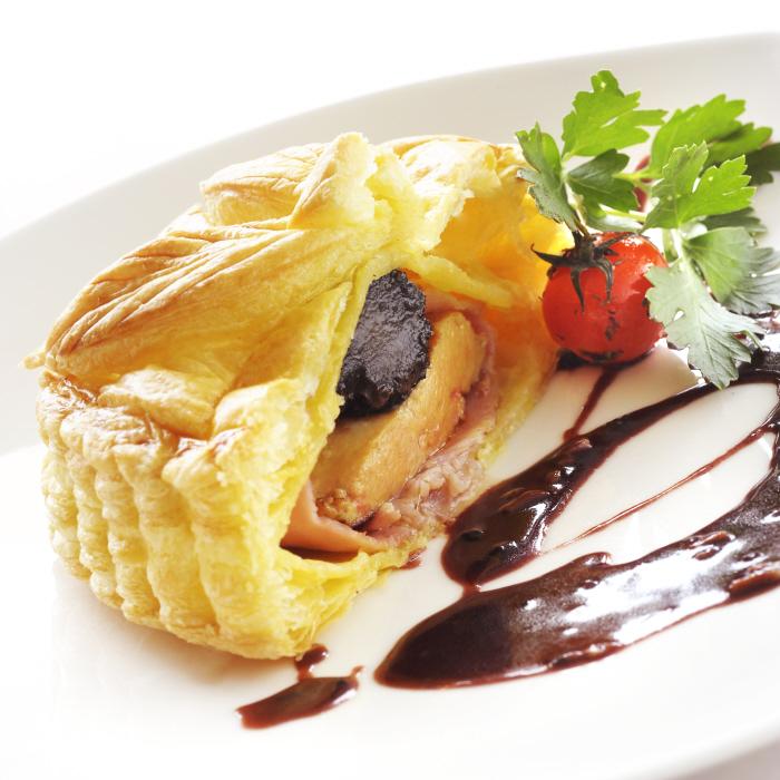 Tourtière de foie gras à la truffe de Xavier Menot