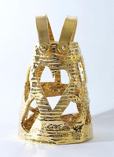 Jean-Antoine Hierro, Céramique dorée 'Prêt-à-Porter'