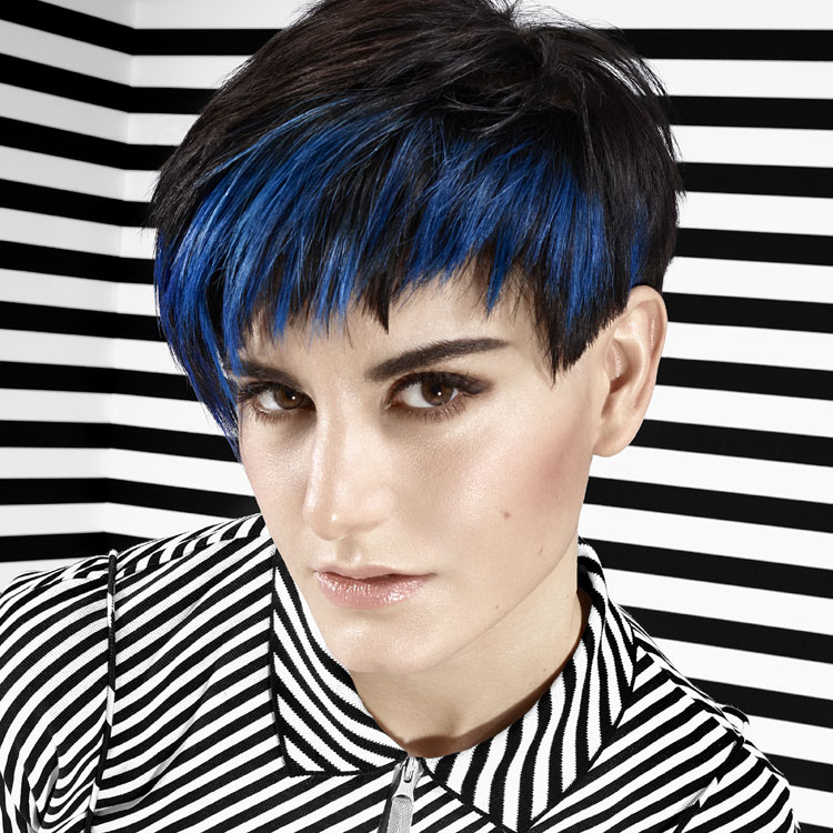 Coiffure cheveux courts - FRAMESI - Tendances printemps-été 2017.