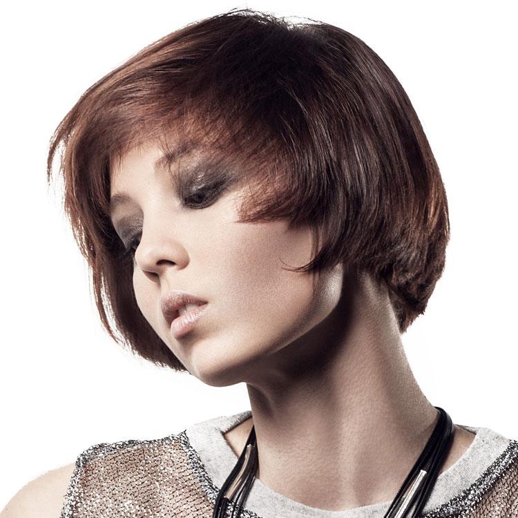 Coupe coiffure mi-longue INTERCOIFFURE / Mid-length haircut - Tendances spring-summer 2017.