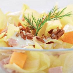 Salade complète endives, jambon.