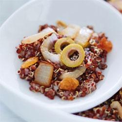 Risotto de quinoa rouge aux endives et aux olives