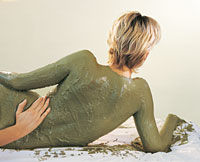 enveloppement d'algues en thalassothérapie