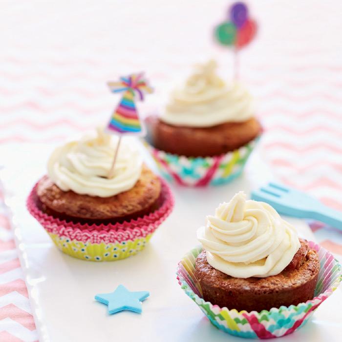 Cupcakes aux endives et aux poires, crème au Mascarpone.