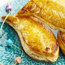 Recette facile Pâques : poissons d'avril, feuilletés saumon et épinard
