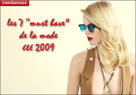 les incontournables de la mode printemps-été 2009