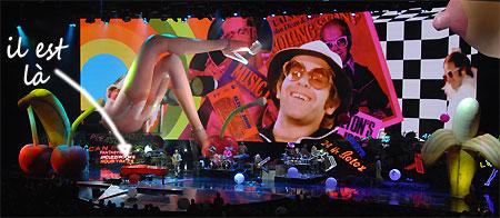Elton John à Las Vegas pour la dernière représentation de son spectacle 'TheRed Piano'