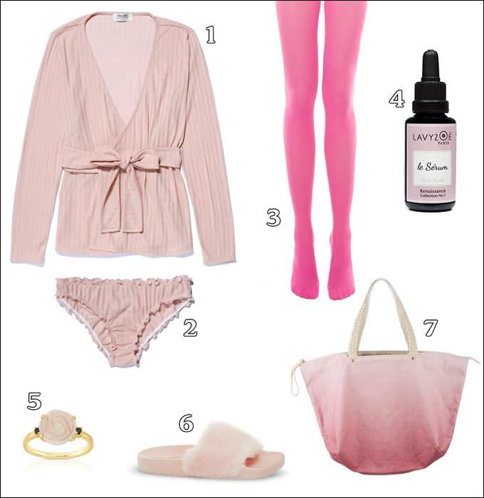 La couleur rose version homewear.