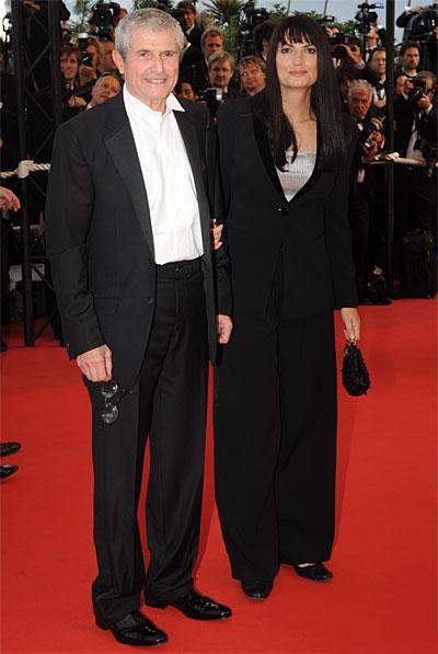 Claude Lelouch et sa compagne © Franck Provost – Cannes 2009.