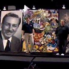 Le portrait de Walt Disney réalisé en briques LEGO