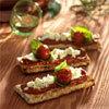 recette bruschetta à la verdurine et au caillé de brebis - photo : François Bertram