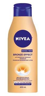 Lait nourrissant bronzage progressif Bronze Effect de NIVEA.