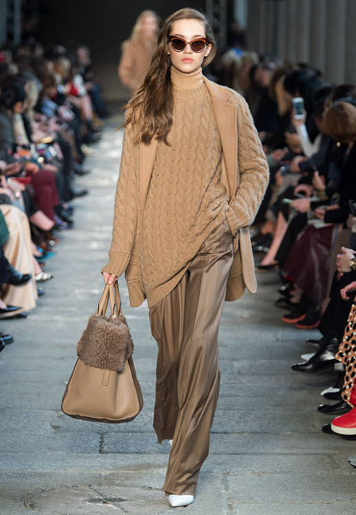 Tendance MAILLE : look Max MARA - Automne-Hiver 2017-2018.