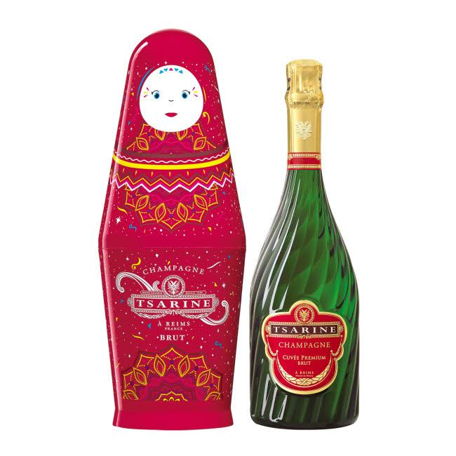 Cadeau thème 'MONDE' - Champagne Tsarine.