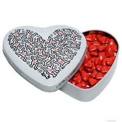 Boîte Keith Haring en métal motif Baby avec chocolats
