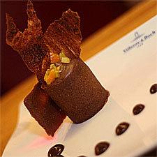 recette Choco Ho la la !!! (Chantilly et tuile en chocolat)