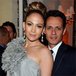 Jennifer Lopez et son mari Marc Antony à la soirée organisée par Vanity Fair et Gucci