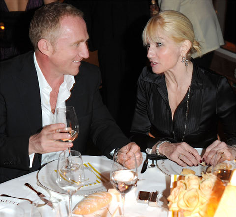 Ellen Barkin et Francois-Henri Pinault au Festival de Cannes 2010