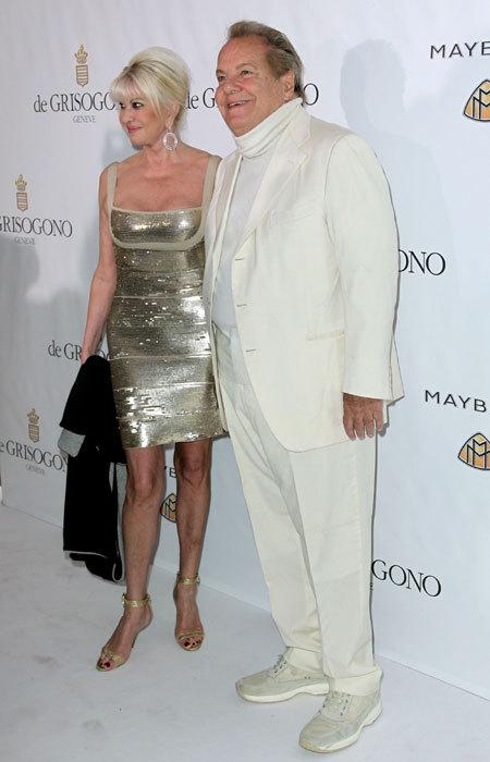 Ivana Trump et Massimo Gargia au Festival de Cannes 2010