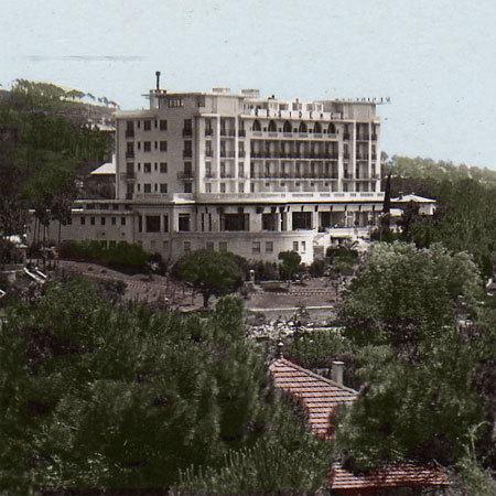 La Résidence du Val d'Esquières version siècle dernier (photo colorée).