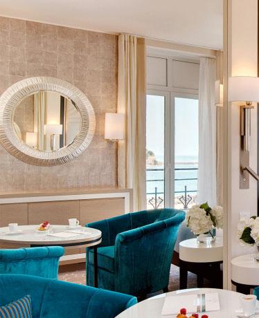 l'accueil du Thalasso-spa du Grand Hôtel Loreamar à Saint-Jean-de-Luz