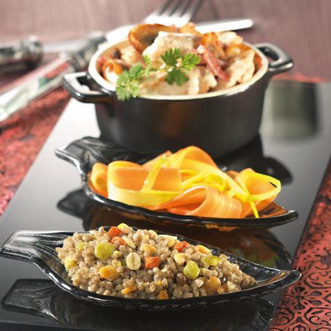 Émincés de porc façon blanquette aux légumes secs gourmands