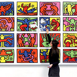 keith haring en puzzle g ant 10 m2 de pur pop art. Black Bedroom Furniture Sets. Home Design Ideas
