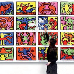 'Double Retrospect' de Keith Haring édité en puzzle par Ravensburger