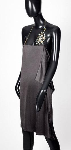 Robe-bijou Amazonites et Tourmalines, collection 'Voie Lactée' de Taher Chemirik