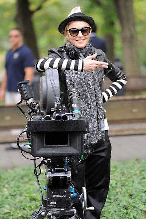 Madonna à Central Park en Thierry Lasry pour W.E.