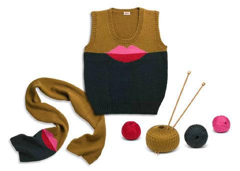 pull et écharpe collector Kenzo à faire soi-même