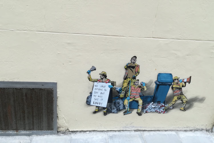 Les petits éboueurs du street artiste belge Jaune © ABCfeminin.com.