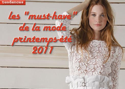 les 7 tendances clé de la mode printemps-été 2011