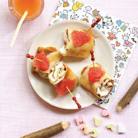 recette : rodéo de Pamplemousse sur crêpes surprise