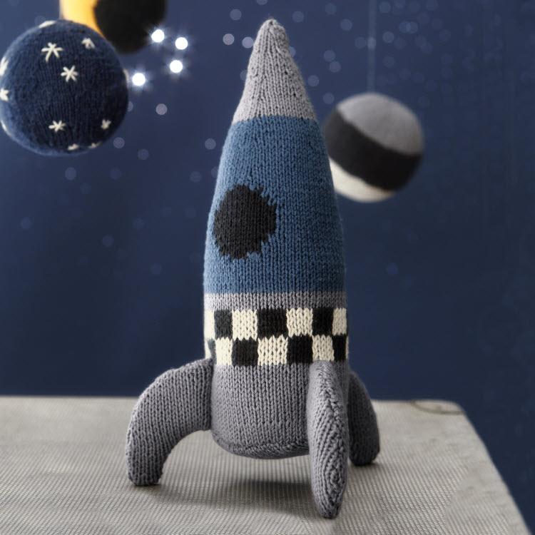 Doudou fusée à tricoter - modèle expliqué - création Phildar