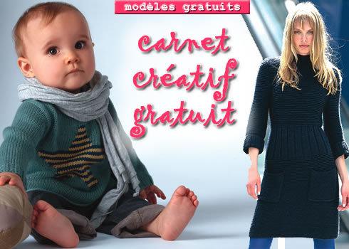 Carnet créatif ABCfeminin.com - Modèles expliqués gratuits